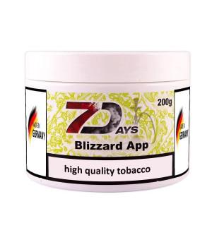 Табак 7 Days Blizzard App (Яблочный коктейль со льдом) 200гр
