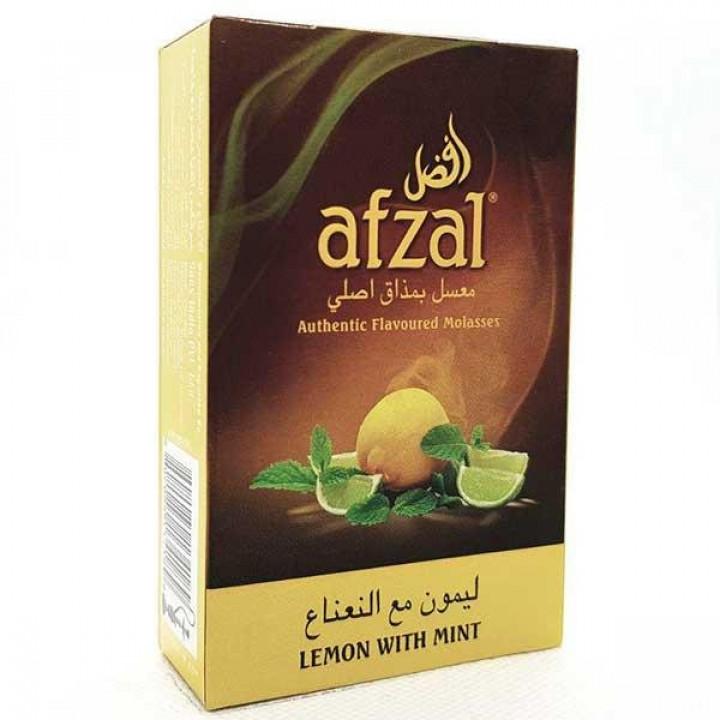 Купить Табак Afzal Lemon with Mint (Лимон с Мятой) 50гр Киев и Украина Оптом и в розницу