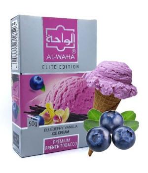 Табак Al-Waha Elite Edition Blueberry Ice Cream Vanilla (Черничное Мороженое) 50 гр