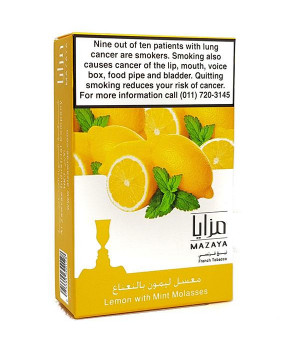 Табак Mazaya Lemon with Mint (Лимон с Мятой) 50гр