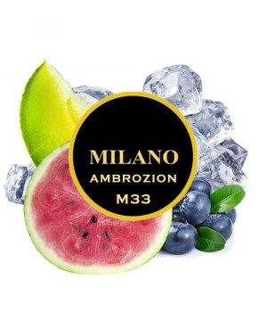 Табак Milano Ambrozion M33 (Арбуз Дыня Лед Черника) 500гр