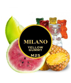 Табак Milano Yellow Gummy M25 (Ананас Арбуз Дыня) 500 гр