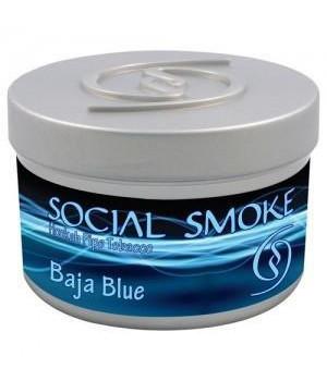 Табак Social Smoke Baja Blue (Черника с Виоградом в Белом Шоколаде) 250гр