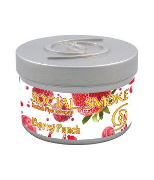 Табак Social Smoke Berry Punch (Ягодный Пунш) 100гр