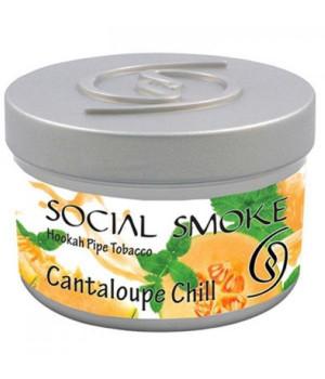 Табак Social Smoke Cantaloupe Chill (Дыня Канталупа с Мятой) 100гр