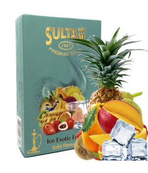 Табак Sultan Ice Exotic Fruit (Экзотические Фрукты Лед) 50 гр